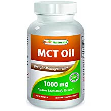Best Naturals MCT Oil Weight Management 1000 mg 180 Softgels, Great MCT Oil capsules for energy & weight management