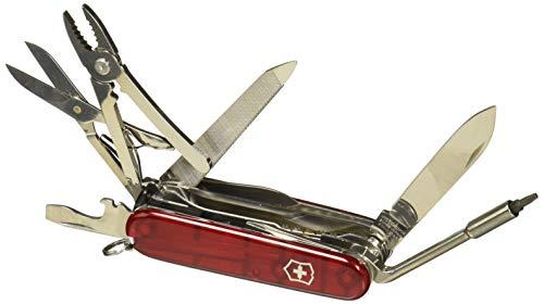 Victorinox Taschenmesser Cyber Tool L (39 Funktionen, Metallfeile, Bit-Schlüssel, Kugelschreiber, Zange) rot