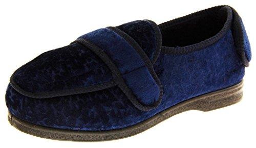 Coolers Bw27a Damen Klettbänder Breite Passform Orthopädische Pantoffeln Marine Blau EU 38