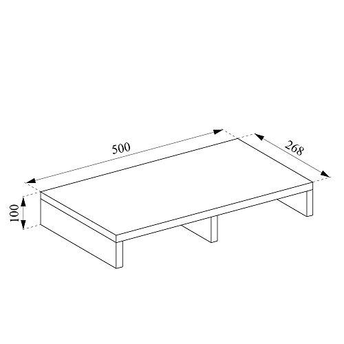 VICCO Monitorständer Weiß 50 cm - Schreibtischaufsatz Bildschirmständer für Laptop (Weiß, Einzeln) - 4