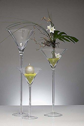 XXL Martini vidrio, cristal copas, jarrón, media 70 cm