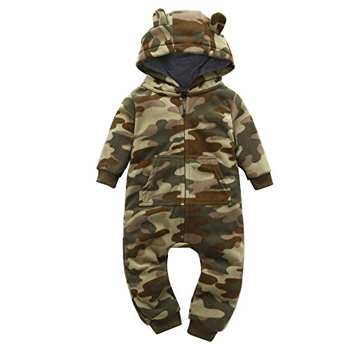 Herbst Winter Overall Baby Unisex feiXIANG Kinderkleidung Tarnung Hoodie Verdickte Warm Säuglingsbaby Kleidung(Camouflage,9M)