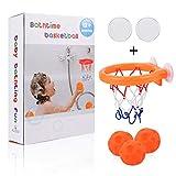 ALLCELE Kinder Bad Basketballkorb & Bälle Spielset für Baby Badespielzeug Kreative Badewanne Schießen Spiel für Kleinkinder, Saugnäpfe & Haftklebendichtung kann auf jedem flachen Kind Baby Geschenk