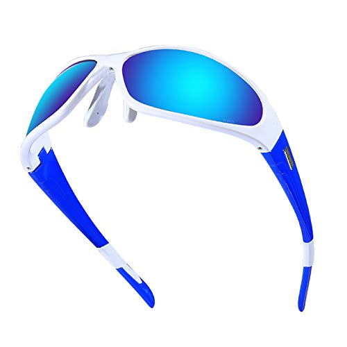 KnBoB Radbrille Brillenträger Fahrradbrille Antifog Weiß Blau