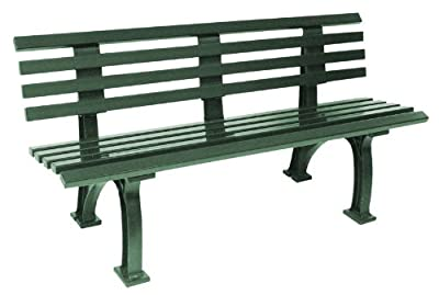 Wetterfeste Parkbank 3-sitzer, Kunststoff grün von gartenmoebel-einkauf