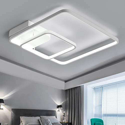 Zy moderna plafoniera a led contemporanea minimalista quadrato bianco alluminio lampada da soffitto in metallo sala da pranzo sala da pranzo monolocale decorativo illuminazione a soffitto lampadario d