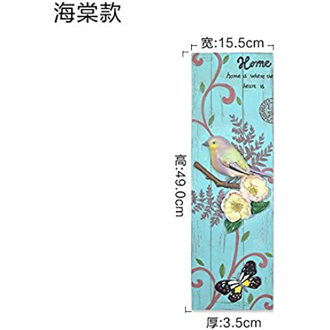 qwer Moderno e minimalista pareti dipinte di un uccello intagliato e fiore continentale parete camera da letto soggiorno parete decorazione , Showroom Begonia)