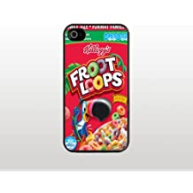 Fruit Loops Cereal Box iPhone 5 5s Case - Cool Black Plastic Snap-On Cover - Funny Design