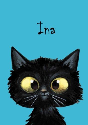 Ina: Ina - Katzen - Malbuch / Notizbuch / Tagebuch: A5 - blanko