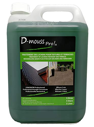 ANTI MOUSSE/ DEMOUSSANT PRO CONCENTRE 5L TOITURE, TERRASSE,...