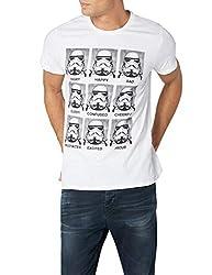 Star Wars HSTTS1353 Trooper Emotions T-Shirt, weiß, L