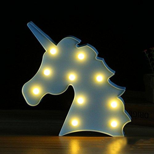LQZ Einhorn LED Nachtlicht Leuchtend Deko Lampe Babyzimmer Kinderzimmer Licht Party Bar Kindergeburtstagsparty Mitgebseln