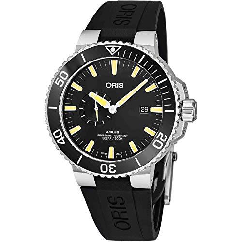 Oris Men's Aquis 45.5mm Black Rubber Band Automatic Watch 01 743 7733 4159-RS