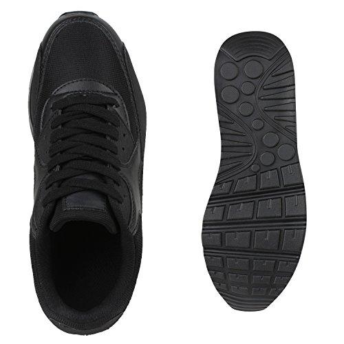 Damen Herren Unisex Sportschuhe Neon Runners Laufschuhe Sneakers Black