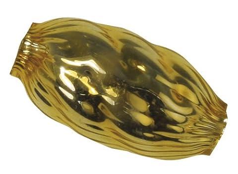 Rayher Glass Olive Bead 14 x 7 mm Textured Box