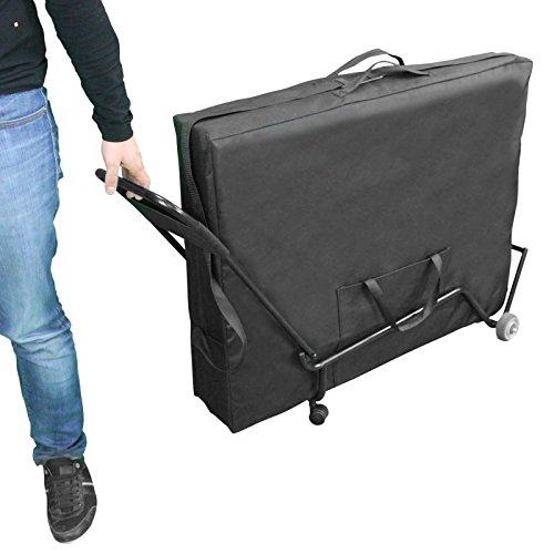 Vivezen ® Chariot à roulettes pliable et transportable pour table de massage - Norme CE