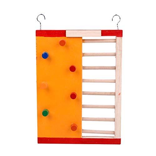 Aagood criceti giocattoli di legno colorati divertente scala di risalita materiali molari per i criceti