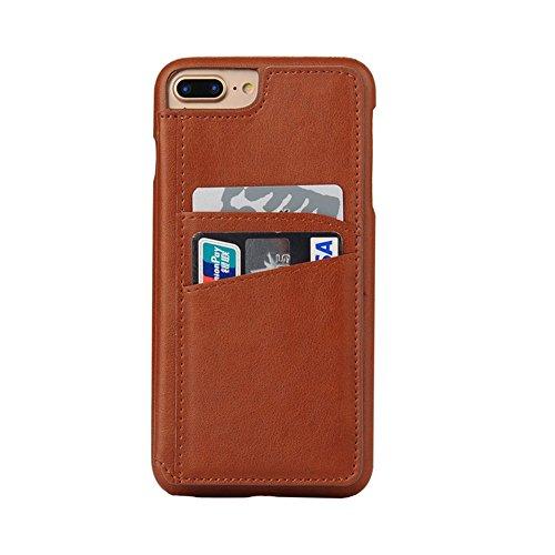 Cover per iPhone 7 Plus Portafoglio,Custodia per iPhone 8 Plus, Bonice Plaid Leather Flip Cover Copertura con Morbido Silicone Case e Porta carte di credito Con Supporto Borsa del Telefono Custodia in Modello 04