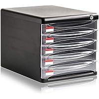 Archivador plano Archivo pequeños armarios archivador 5 Cajón de Datos de Almacenamiento de Escritorio Caja de Almacenamiento Black27X36X26cm Inicio Muebles de Oficina