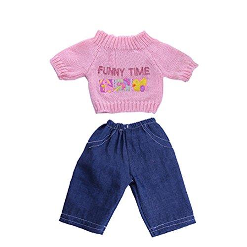 Girl-puppen Elsa American (Minshao Pullover Kleidung Outfits Hosen für 18 Zoll American Girl Doll)