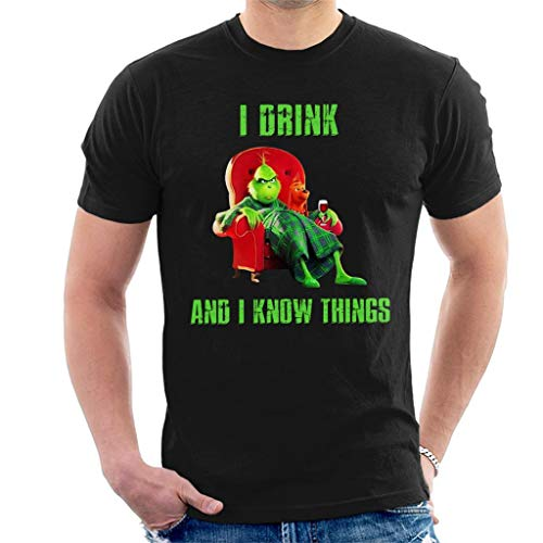 I Drink and I Know Things Grinch Men's T-Shirt