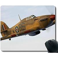 Yanteng Cojín del Escritorio de Oficina, cojín de ratón del Ordenador portátil Hawker Hurricane Militar
