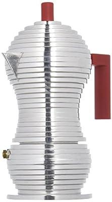 Alessi PULCINA Espresso Coffee Maker, Aluminium in PA and Fusion