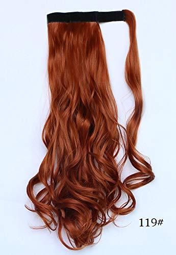 Perücke Frauen Orange Wave Roll Klettverschluss 45cm qualitativ hochwertige Cosplay FürFashion Glamourös -