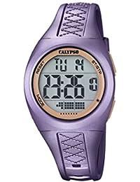 Calypso - Reloj Digital Unisex con Pantalla LCD y Extensible de plástico de Color ...