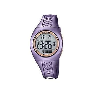 Calypso–Reloj Digital Unisex con Pantalla LCD y Extensible de plástico de Color Purpura K5668/5.