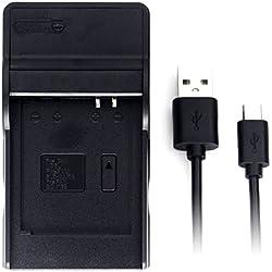 DMW-BCM13 USB Chargeur pour Panasonic DMC-TZ55, DMC-TZ60, DMC-TZ61, Lumix DMC-FT5, DMC-TS5, DMC-TZ70, DMC-ZS40, DMC-ZS50 Caméra et Plus