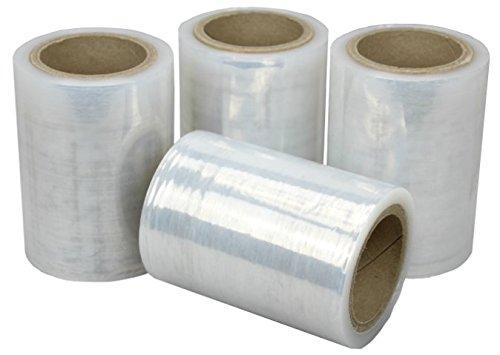 4 x Pack Stretch Verpackungsrolle Klar von Net4Client - Paket Verpackung Boxen Wrap Frischhaltefolie Stretch Rollen Schnelle Starke Verpackung Paket 100mm 150m 23μm