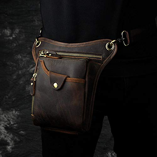 The First Layer of Oil Wax Skin top Layer Oil Wax Skin Men's cool Camera Outdoor 8 inch Pockets 211-5