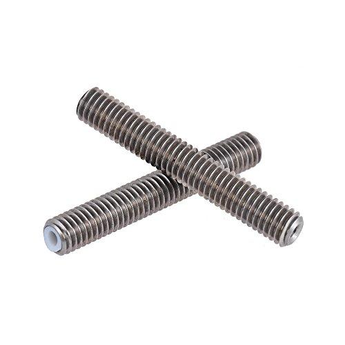 Aibecy 2Pcs M6 x 30mm + 2Pcs M6 x 40mm Edelstahlrohre Rostfreier Stahl Düse Extruder Hals Teflon Rohre Rohre für 1.75mm Filament 3D Drucker Teile, MK8 MakerBot Reprap Prusa i3