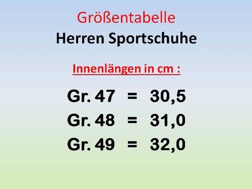 gibra Herren Sportschuhe,Sehr Leicht und Bequem, Dunkelblau/Neonorange, Gr. 47-49 dunkelblau/neonorange