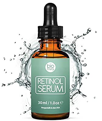 Award-Winning Retinol Serum - 2.5% Retinol Delivery System with 20% Vitamin C, Aloe, & Vegan Hyaluronic Acid - High Strength Anti Aging Serum for face, décolleté and body from Bioniva (Bionura) 30ml