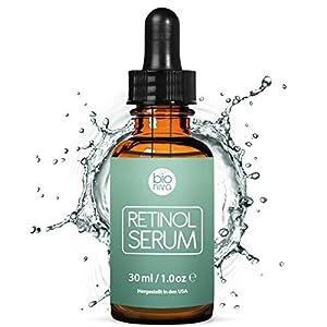 Bioniva Retinol Serum – 2.5% Sistema de administración de liposoma con retinol, 20% Vitamin C & ácido hialurónico botánico