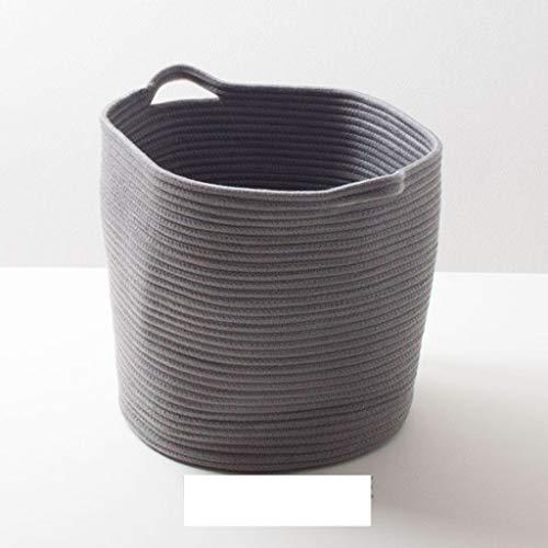 SMBYLL Canasta de Almacenamiento de algodón Cesta de Almacenamiento de Tela Ropa de Canasta de Almacenamiento de Juguetes Basura de escombros Canasta de lavandería 篓 Caja de Almacenamiento
