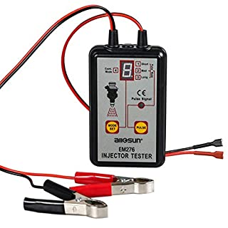 All-Sun em276Injector Tester 12V KFZ-Batterie-Analyser 4Pluse Modi Leistungsstark Fuel System Scan Werkzeug
