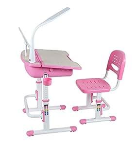 leomark ergonomisch kinderschreibtisch smart schreibtisch und stuhl h henverstellbar farbe pink. Black Bedroom Furniture Sets. Home Design Ideas