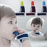 ShowkingL Baby Kind Fingerschutz Stop Daumen Saugen Handgelenk Band Baby Pflege Handschuhe Beißring Schnuller Neugeborenen Zahnpflege