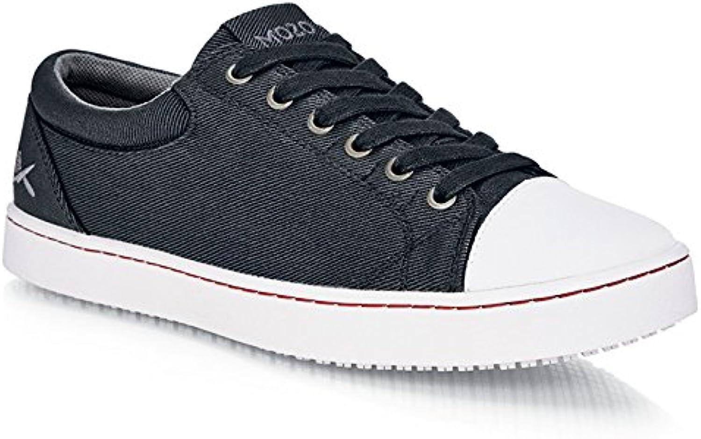 Zapatos para Crews m31165 – 41/7 Mozo Grind antideslizante lienzo zapatillas de hombre, 7 UK, negro/blanco