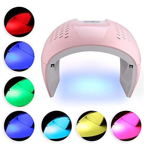 7-Farben-LED-Rot-Blau-Licht-Therapie-Schönheits-Gerät, Gesichts-Haut-Verjüngungs-Maschinen-Rosa(EU) - Led-technologien Und Licht-therapie