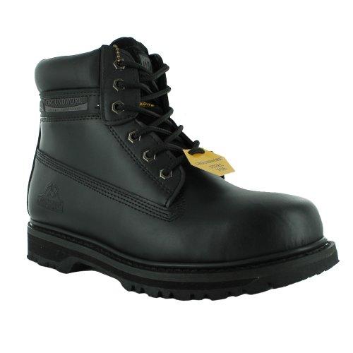 Da uomo Groundwork SK21Steel Toe con lacci di sicurezza lavoro Boot, nero (Black), 47