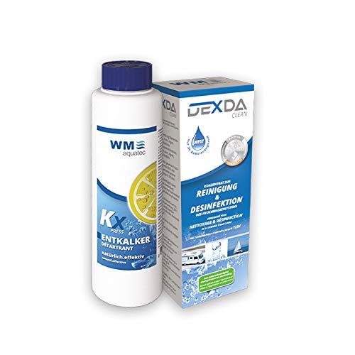 WM aquatec Desinfektion & Entkalkung Set für Frischwassersysteme in Wohnmobil, Caravan und Boot