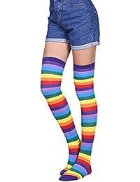 4ddd5706154 Amazon.fr   Chaussettes Hautes Rayées   Vêtements