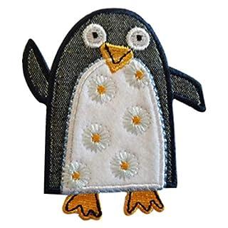 TrickyBoo 2 Aufbügler Pinguin 7X8cm Erdbeere 7X7cm Set Aufnäher Flicken Applikationen zum Ausbessern von Kinder Kleidung mit Design Zürich Schweiz für Deutschland und Österreich