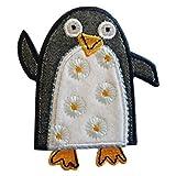 TrickyBoo 2 Aufbügler Pinguin 7X8cm Eisbär 9X7cm Set Aufnäher Flicken Applikationen zum Ausbessern von Kinder Kleidung mit Design Zürich Schweiz für Deutschland und Österreich