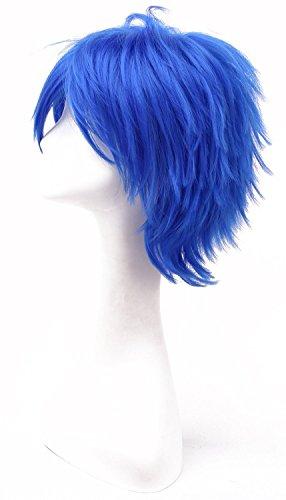 iLoveCos Coser Cosplayer-Prop Männer Frauen Anime Cosplayer Perücke Kostueme Vocaloid Kaito Blaue Kurze Party Haar Kostüm (Kostüm Kaito Vocaloid Von)
