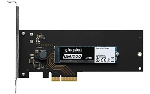 Kingston SKC1000H/960G KC1000 NVMe PCIe 960 GB HHHL PCI Express 3.0 Solid State Drive - Black